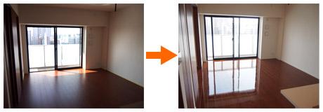 埼玉県の新築マンションにUVフロアコーティング
