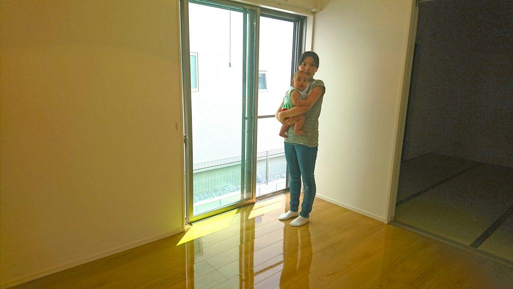 兵庫県小野市にて一建設物件にUVフロアコーティング