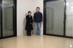 神奈川県の一戸建てにUVフロアコーティング