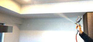 光触媒クロスコーティングの施工