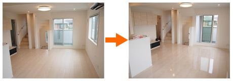 東京都新築一戸建にてUVフロアコーティングを施工