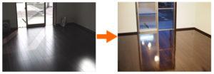 埼玉県の新築戸建てにてUVフロアコーティングを施工