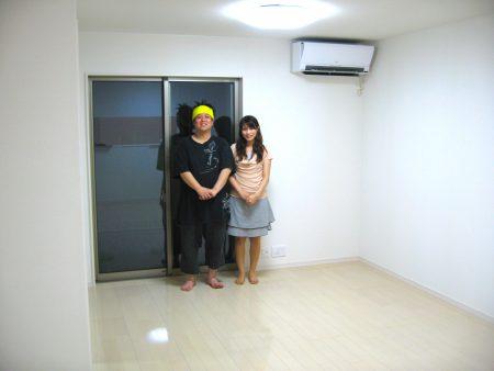 東栄住宅へのフロアコーティング
