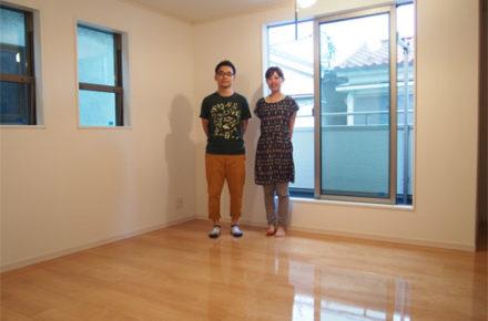 神奈川県の新築一戸建てのサンロードアートにUVフロアコーてティング