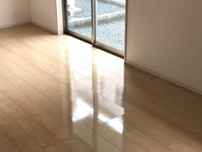 広島県福山市にてUVフロアコーティングを施工