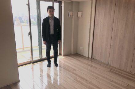 東京都文京区にてUVフロアコーティングを施工