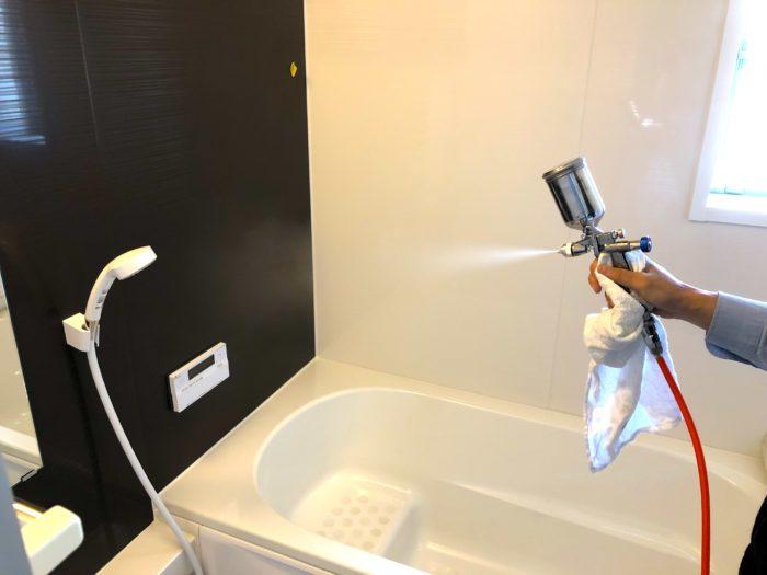 水まわり光触媒コーティングの施工