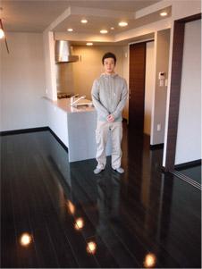 UVフロアコーティング|大阪府寝屋川市|新築マンション