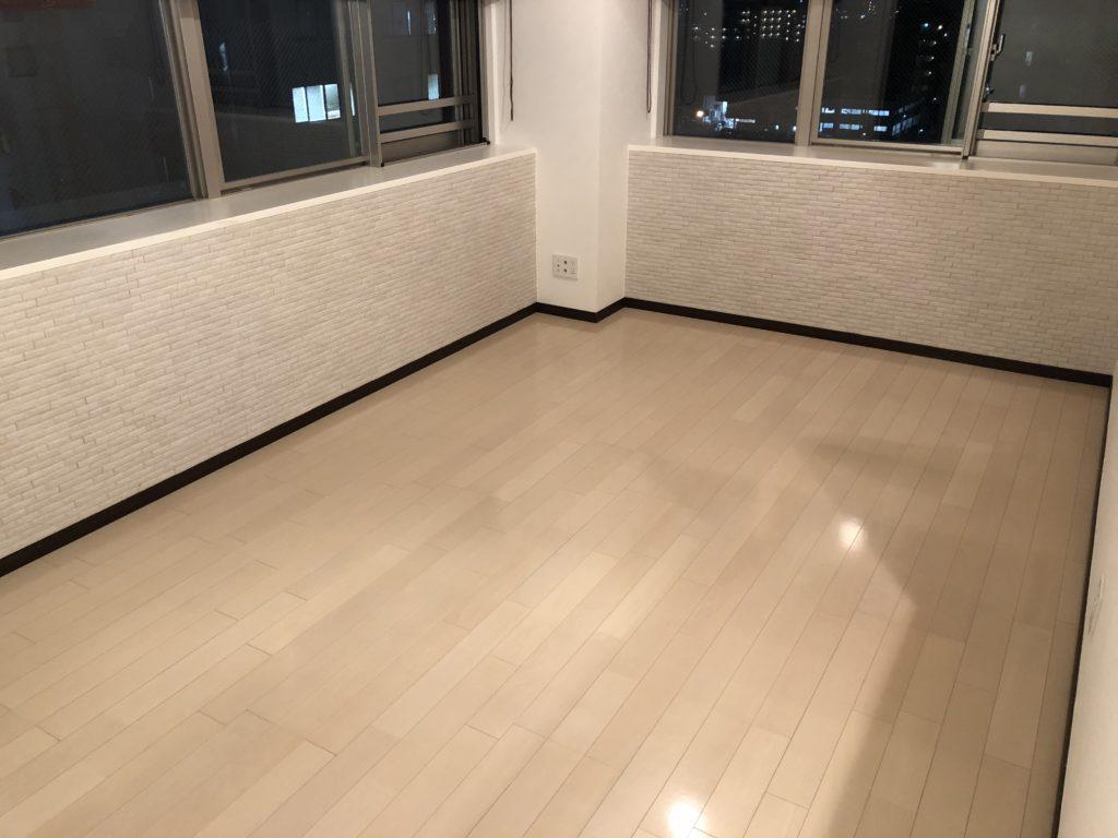 水性フロアコーティング 大阪市住之江区 新築マンション