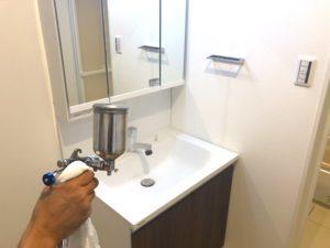 洗面台の光触媒