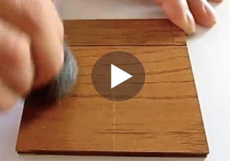 ガラスフロアコーティングの耐傷性テスト動画