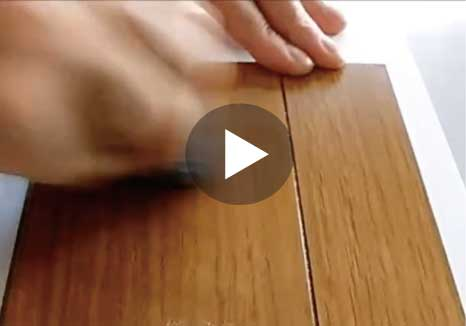 UVフロアコーティングの耐傷性テスト動画
